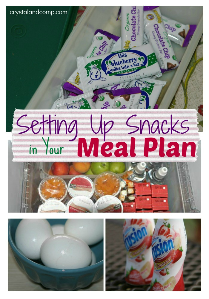 incorporating snacks into your weekly meal plan