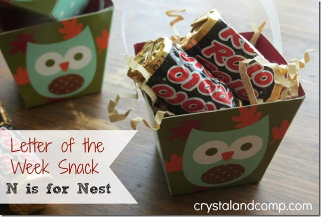 letter of the week snack for preschoolers