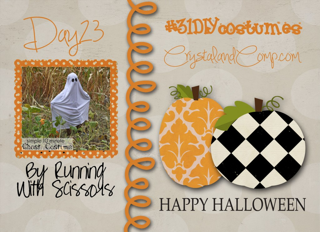 DIY Halloween costumes: how to make a ghost costume #31diycostumes