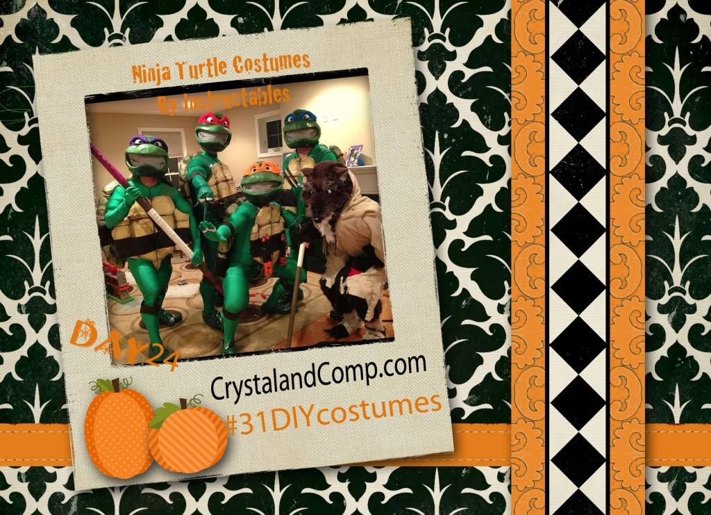 DIY Halloween Costumes:Teenage Mutant Ninja Turtles Costume #31DIYcostumes