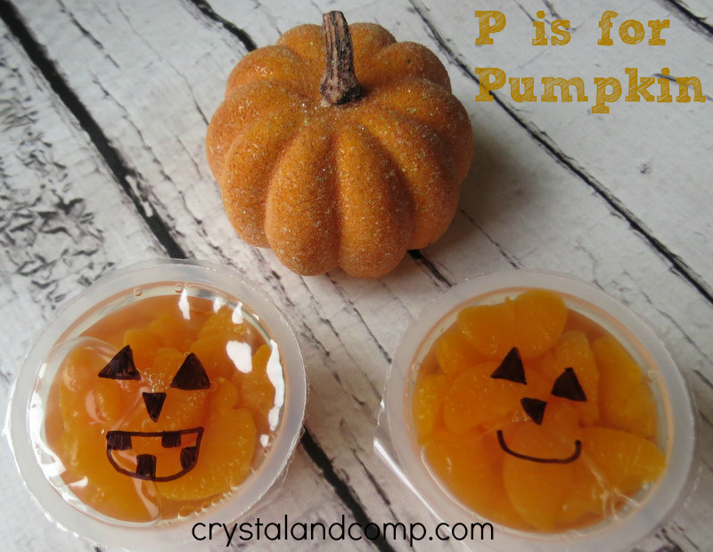 snack ideas for kids: pumpkin snack letter P