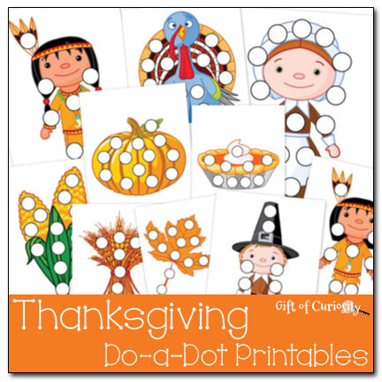 Preschool Worksheets: Thanksgiving Do A Dot Printables