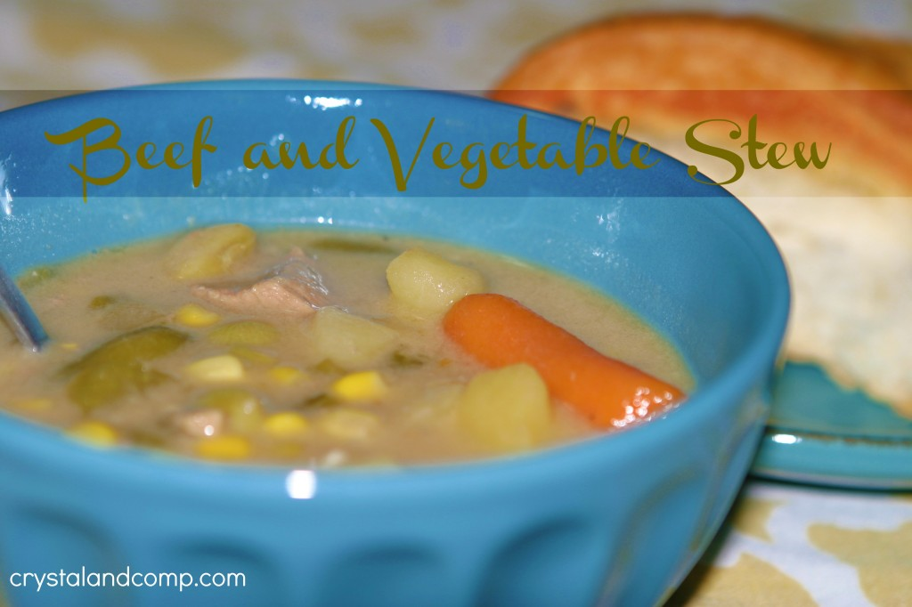 easy recipes: beef and vegetable stew