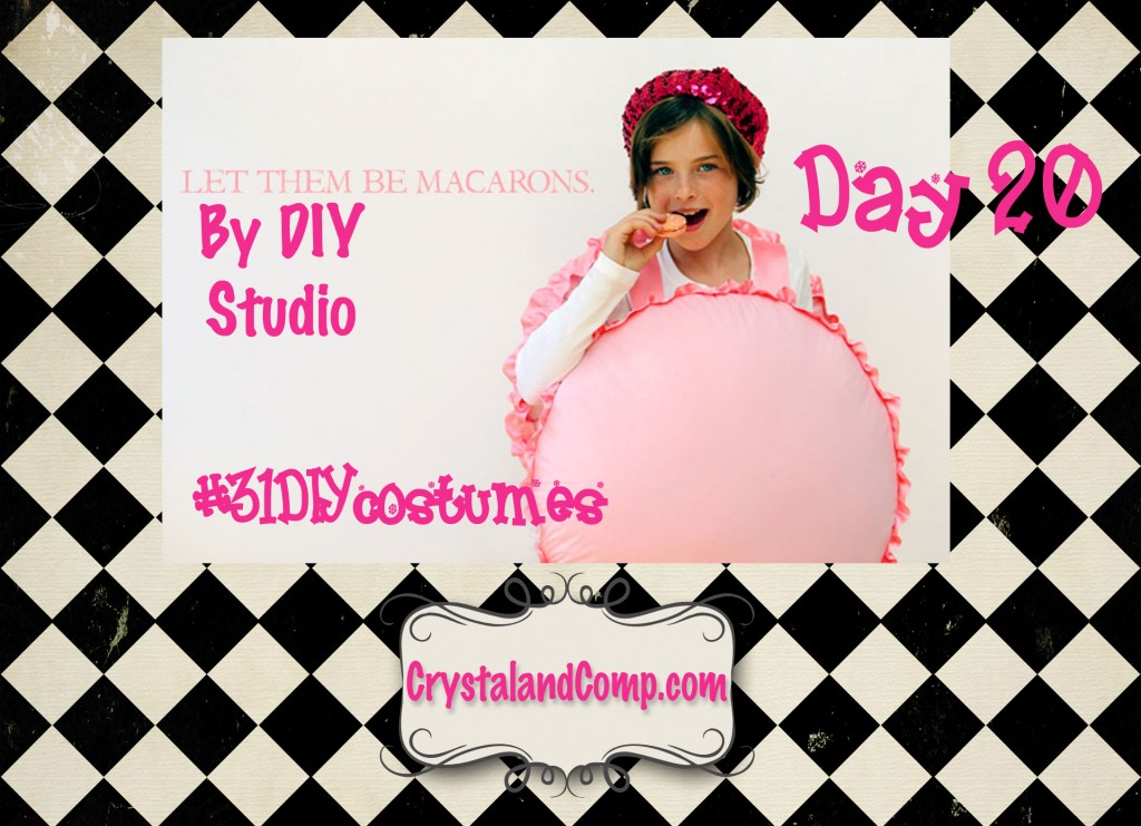 DIY Halloween costumes: macaroon child costume #31DIYhalloweencostumes