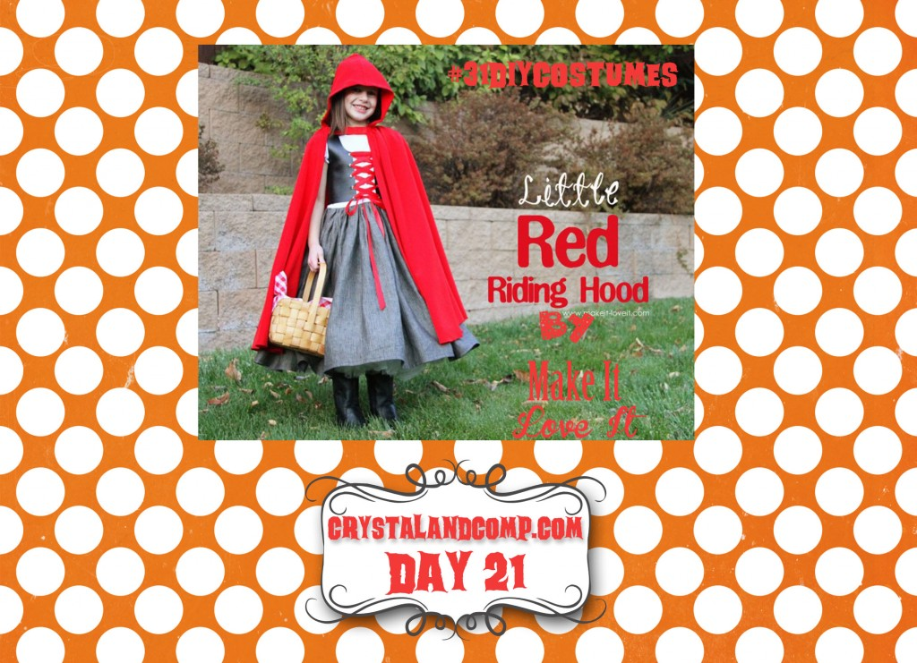 DIY Halloween Costumes:  Little Red Riding Hood