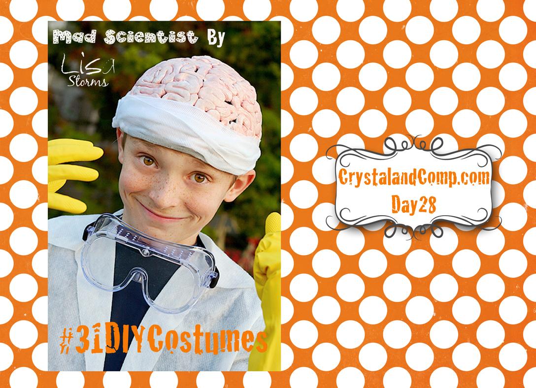 diy halloween costumes: mad scientist costume