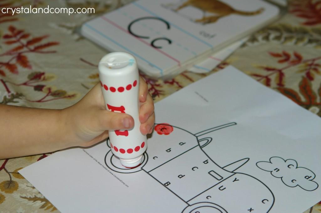do a dot preschool printable c is for car