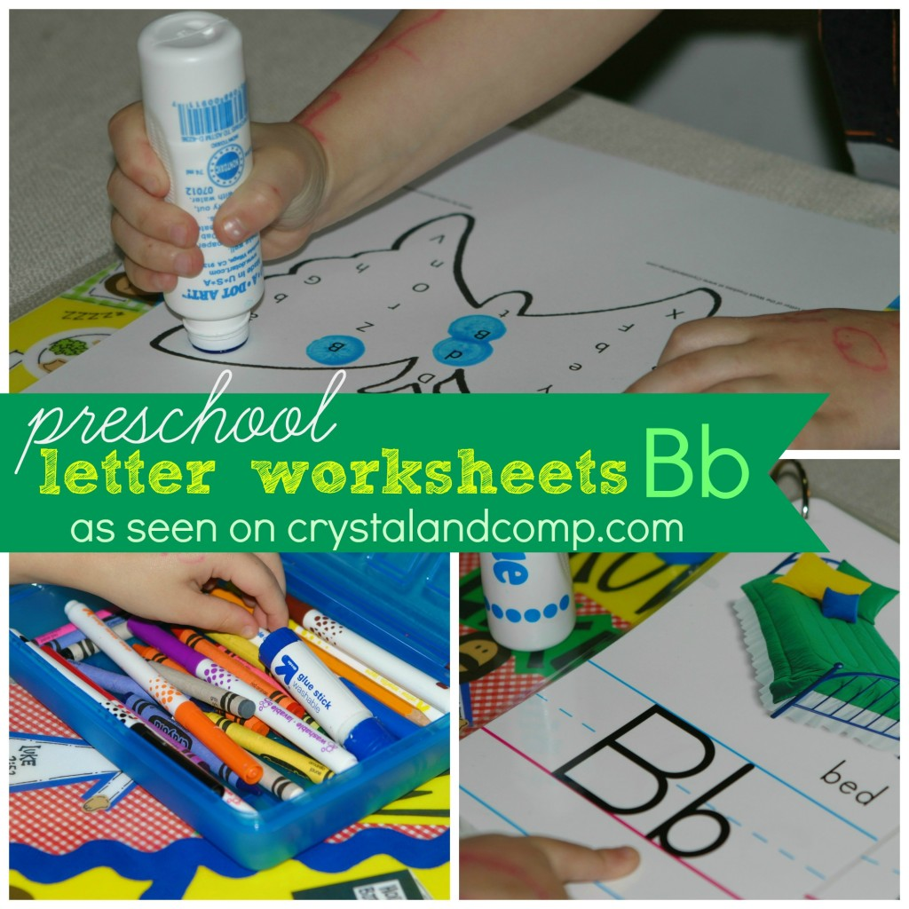 preschool letter worksheets B