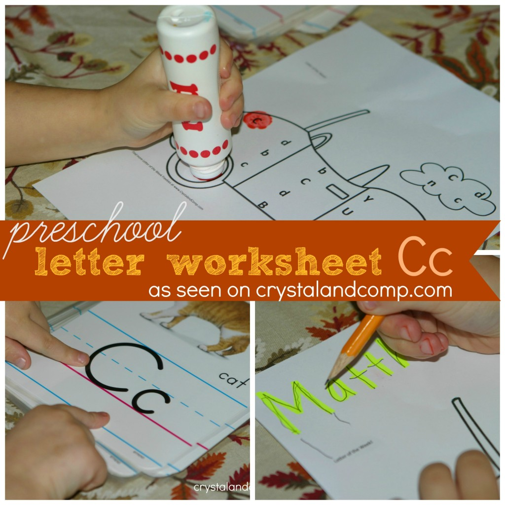 preschool letter worksheets c is for car