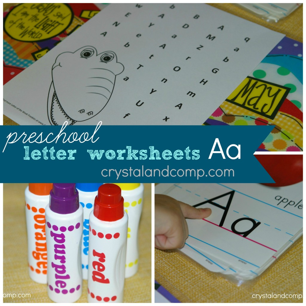 preschool letter worksheets letter A do a dot printable