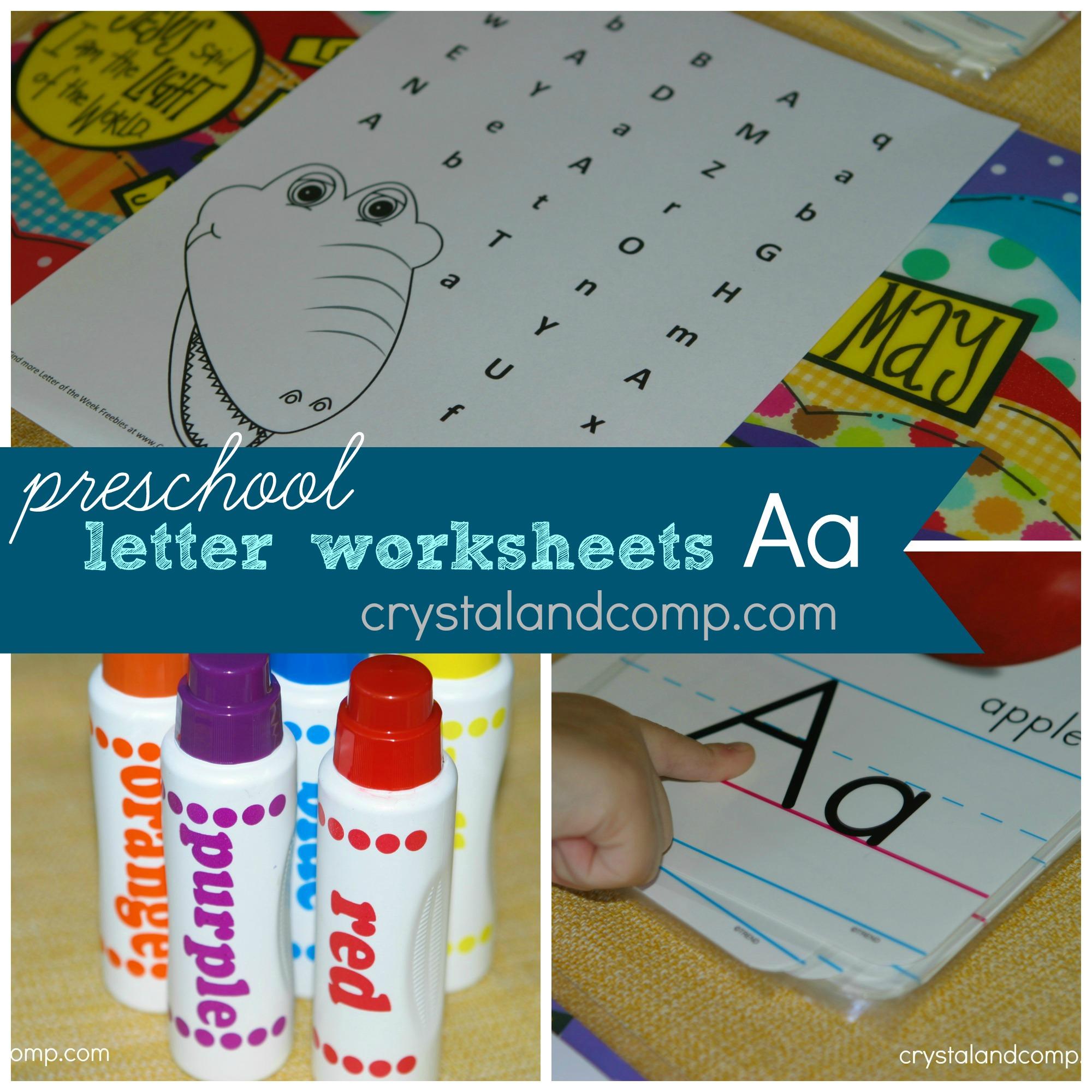 Preschool Letter Worksheets: A is for Alligator