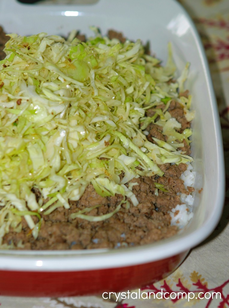 trader joes shredded cabbage ove beef and rice